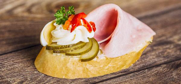 Хлебичек (Chlebíček) чешский открытый бутерброд