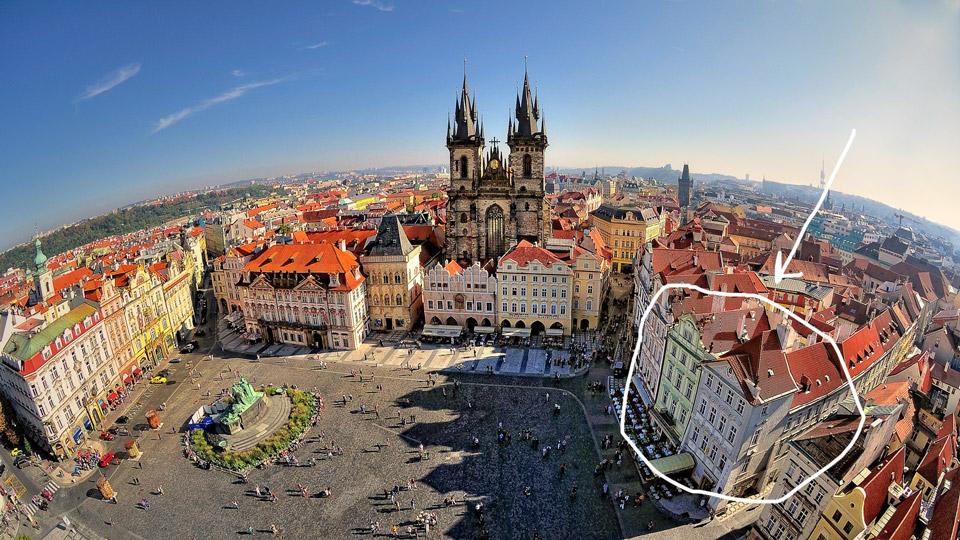 отель на Староместской площади в Праге