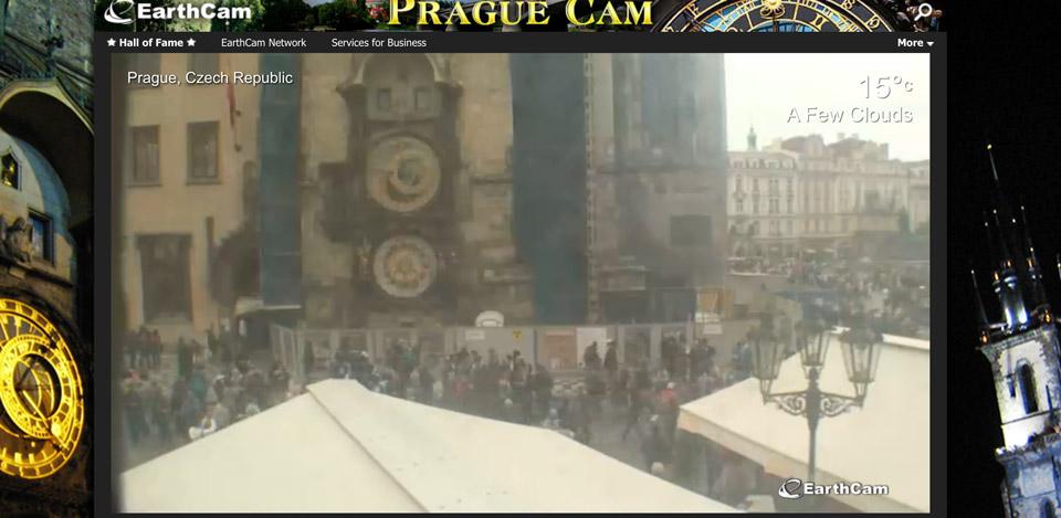 Онлайн вебкамера Староместская площадь в Праге
